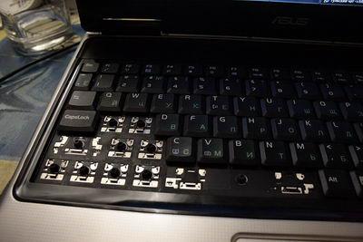 Все залипшие клавиши поотрывал
