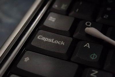 Caps Lock на месте и отлично функционирует