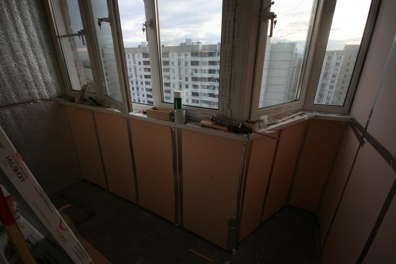 Утепление балкона. день второй..