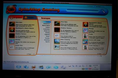 Онлайн игры с сайта games.splashtop.com
