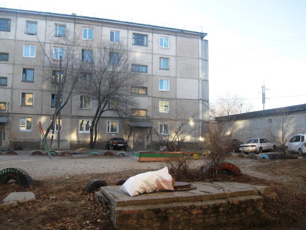 Вид со двора на дом №64
