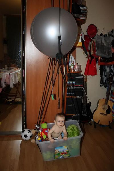 Дома сделали воздушный шар