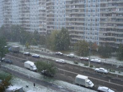 Вот он - первый снег