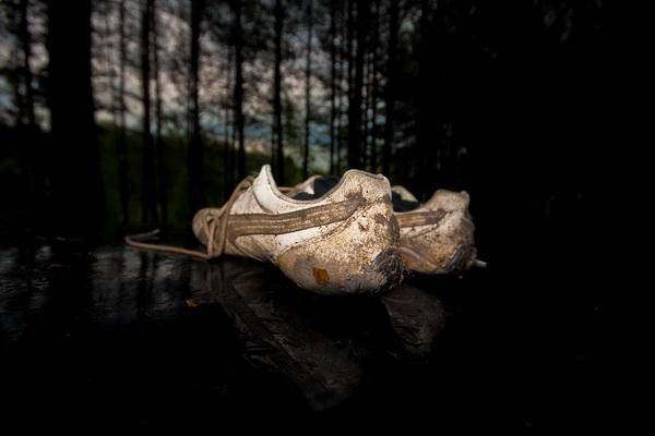 Убитые пумовские кроссовки